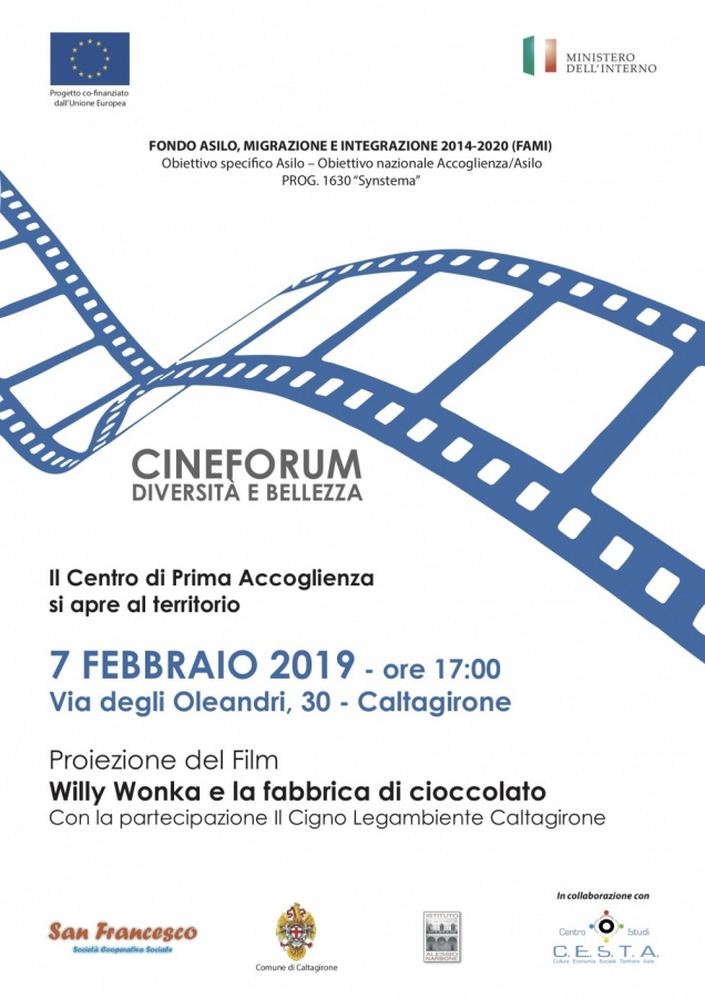 "Cineforum diversità e bellezza al CPA ""Synstema"""