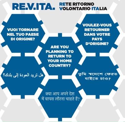 """Progetto RE.V.ITA """"Rete Ritorno Volontario Italia"""""""